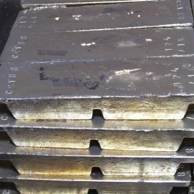 Bearing metal (white metal) alloys