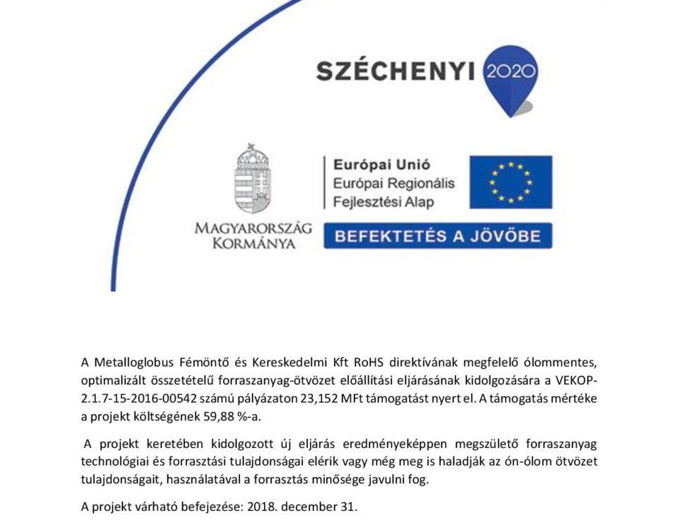 Széchenyi 2020 pályázati logó